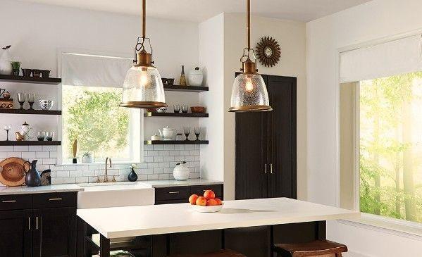 nowoczesne lampy wiszące do kuchni - szklane