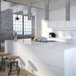 tuby sufitowe do kuchni – biała meble