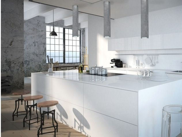 tuby sufitowe do kuchni - biała meble